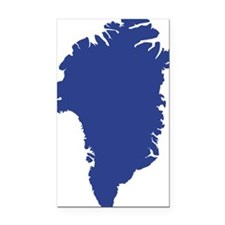 Greenland Rectangle Car Magnet