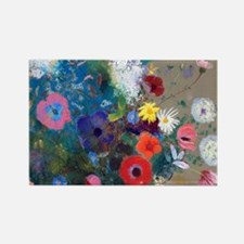 Pic Redon Bouquet Rectangle Magnet