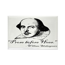 Prose Before Hoes - Shakespeare Quote Rectangle Ma