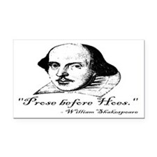 Prose Before Hoes - Shakespeare Quote Rectangle Ca