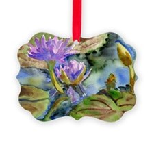 Purple Lily Picture Ornament