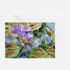 Purple Lily Greeting Card
