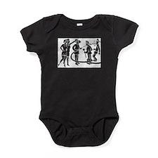 Vintage Fireman Stamp White Baby Bodysuit