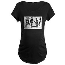 Vintage Fireman Stamp White Maternity T-Shirt