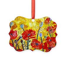 Red Poppy Bed Decorative Sham Ornament