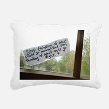 Optimistic Rectangular Canvas Pillow