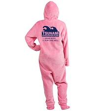 tsunamiBeer1E Footed Pajamas