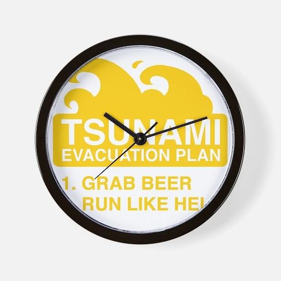 tsunamiBeer1F Wall Clock
