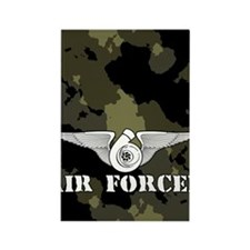 AirForcediPhone4Slider Rectangle Magnet