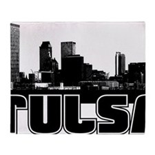 Tulsa Skyline Throw Blanket