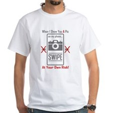 Cell Pic Showing Swipe T-Shirt