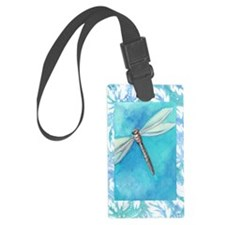 Dragonfly Watercolor Luggage Tag