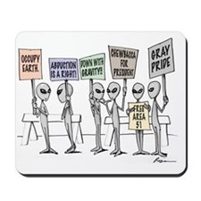 Alien Protestors Mousepad