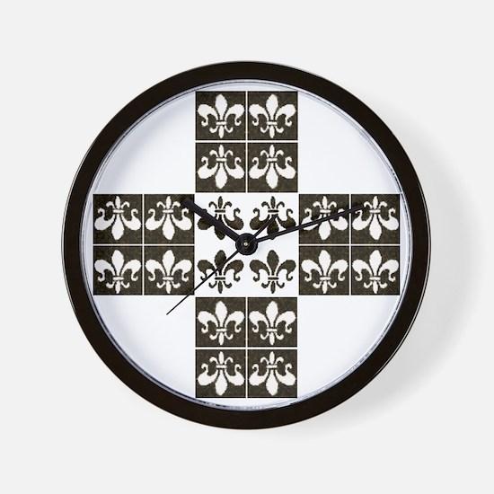 Fleur de Lis 19: Wall Clock