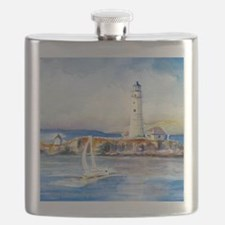 Boston Light Shower Curtain Flask
