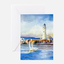 Boston Light Journal Greeting Card