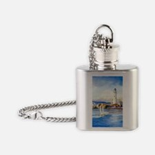 Boston Light Journal Flask Necklace