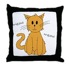 Kitteh Throw Pillow