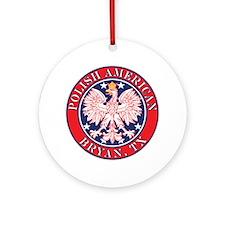 Cestohowa Texas Polish Ornament (Round)