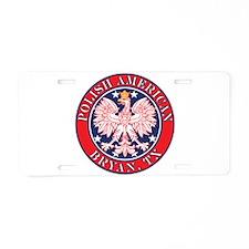 Cestohowa Texas Polish Aluminum License Plate