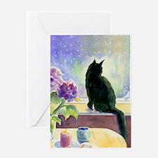 Black Cat Journal Greeting Card
