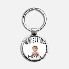whatthe Round Keychain