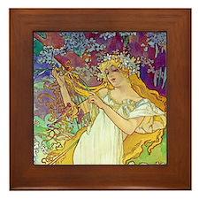 Mucha Framed Tile