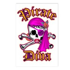 PIRATE DIVA Postcards (Package of 8)