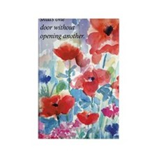 Red Poppies Journal Rectangle Magnet