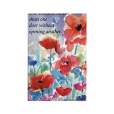 Red Poppies Card Rectangle Magnet