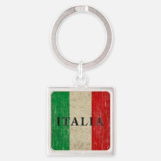 Vintage Italia Square Keychain