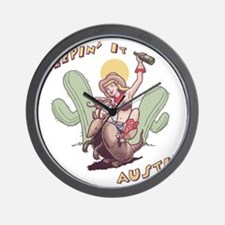 austin-armadillo-T Wall Clock