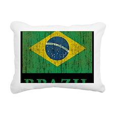 Vintage Brazil Rectangular Canvas Pillow
