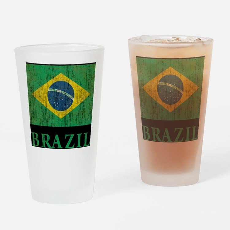 Vintage Brazil Drinking Glass