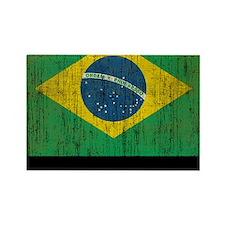 Vintage Brazil Rectangle Magnet