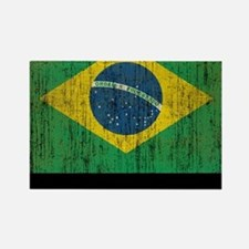 Vintage Brazil Rectangle Magnet