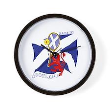 Scottish Lion Tennis Navy Saltire Magic Wall Clock