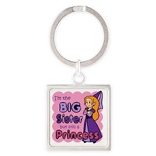 I'm The Big Sister Square Keychain