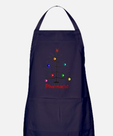 pharmacist Christmas tree stick Apron (dark)