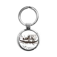Retro Venice Round Keychain