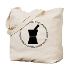 retired pharmacist pestle and mortar Tote Bag
