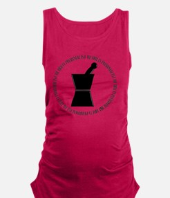 retired pharmacist pestle and m Maternity Tank Top