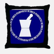 retired pharmacist blue DARKS BLANKET Throw Pillow
