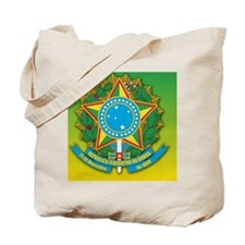 Brazil Coat Of Arms Tote Bag