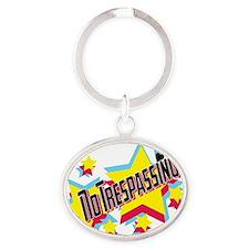 no trespassing glambert concert wear Oval Keychain
