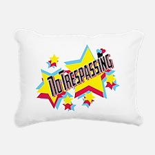 no trespassing glambert  Rectangular Canvas Pillow