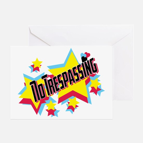 no trespassing glambert concert wear Greeting Card