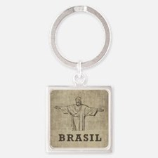 Vintage Christ The Redeemer Square Keychain
