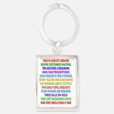 PHARMACIST 12 DAYS OF CHRISTMAS  Portrait Keychain
