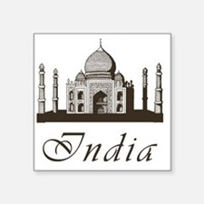 "Retro Taj Mahal Square Sticker 3"" x 3"""